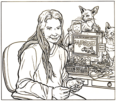 portrait by Geof Darrow